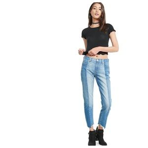 Two Tone High-Waisted Mom Jeans - Missguided
